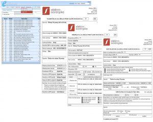 Prikaz vnosne maske in dokumentv iz aplikacije