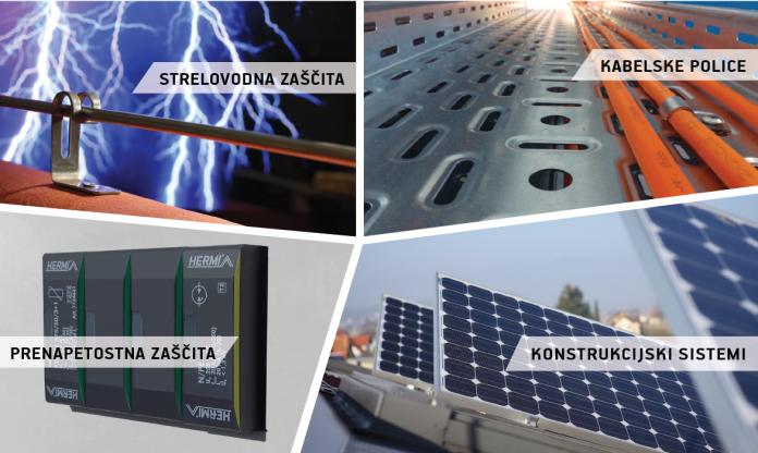Strelovodna zaščita solarne termične naprave